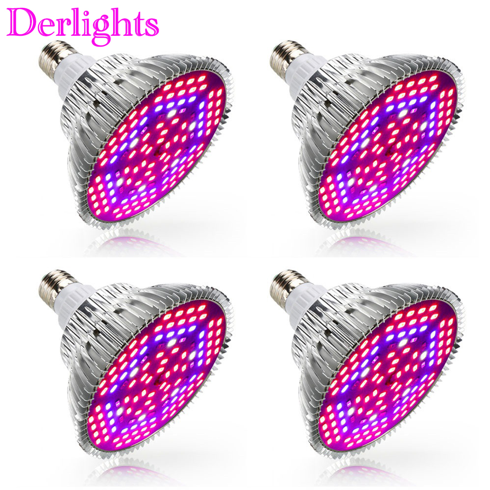 4pcs/Lot 30W 50W 80W E27 LED Grow Light Full Spectrum Led Plant Lamp UV+IR Indoor Greenhouse Flower Vegetable Grow Lamp