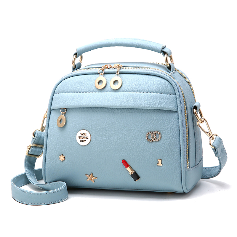 Our ReALIty 1  New Arrival 2018 Cute Blue Crossbody Summer Color Genuine Leather Small Kawaii Girl Bag Tote EGT0122 augmented reality navigation