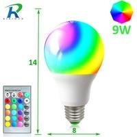 RiRi Won 2 PCS SMD RGB LED Bulb Light Lamps E27 220V Smart Real 9W Power