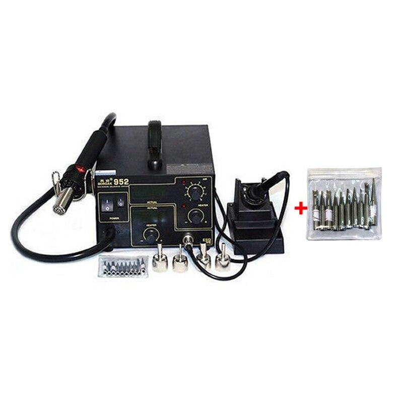 Gordak 952 220V SMD 3in1 Welding Machine Hot Air Solder Rework Station Heat Gun and Electric
