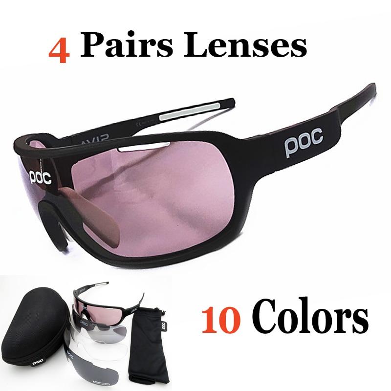 1491ca4143 4 Lentes Polarizadas Gafas de Sol Hombres Mujeres Deporte Al Aire Libre  Quijada Gafas de Sol TR90 Gafas de Eyewear Ciclismo bicicleta Velo en Gafas  de sol ...