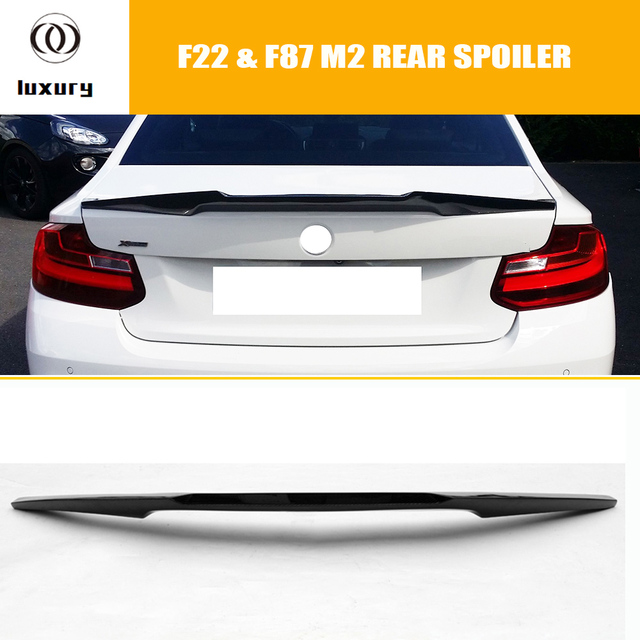 220i V Style Carbon Fiber Rear Trunk Boot Wing Spoiler for BMW F22 220 228 M235 & F87 M2 2014 - 2018