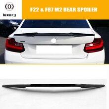 220i V Стиль углеродного волокна задний багажник загрузки крыла Спойлер для BMW F22 220 228 M235 и F87 M2 2014-2018