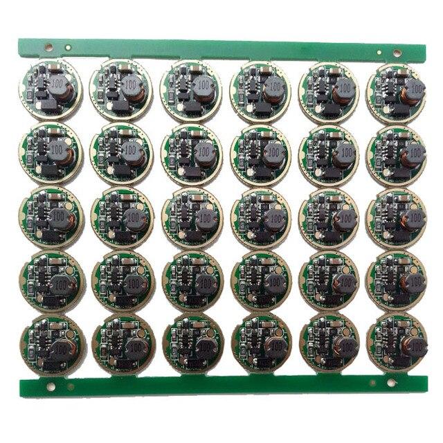 10 pcs lampe de poche led pilote 17mm XM L/XM L2 1 Mode 3 V 18 V Circuit imprimé pour bricolage lampe de poche torche accessoire pièces