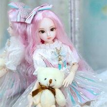 DBS Doll1/4 BJD Sữa Hoàng Hậu Tên Amenda Tóc Hồng Cơ Khớp Cơ Thể Bé Gái, SD