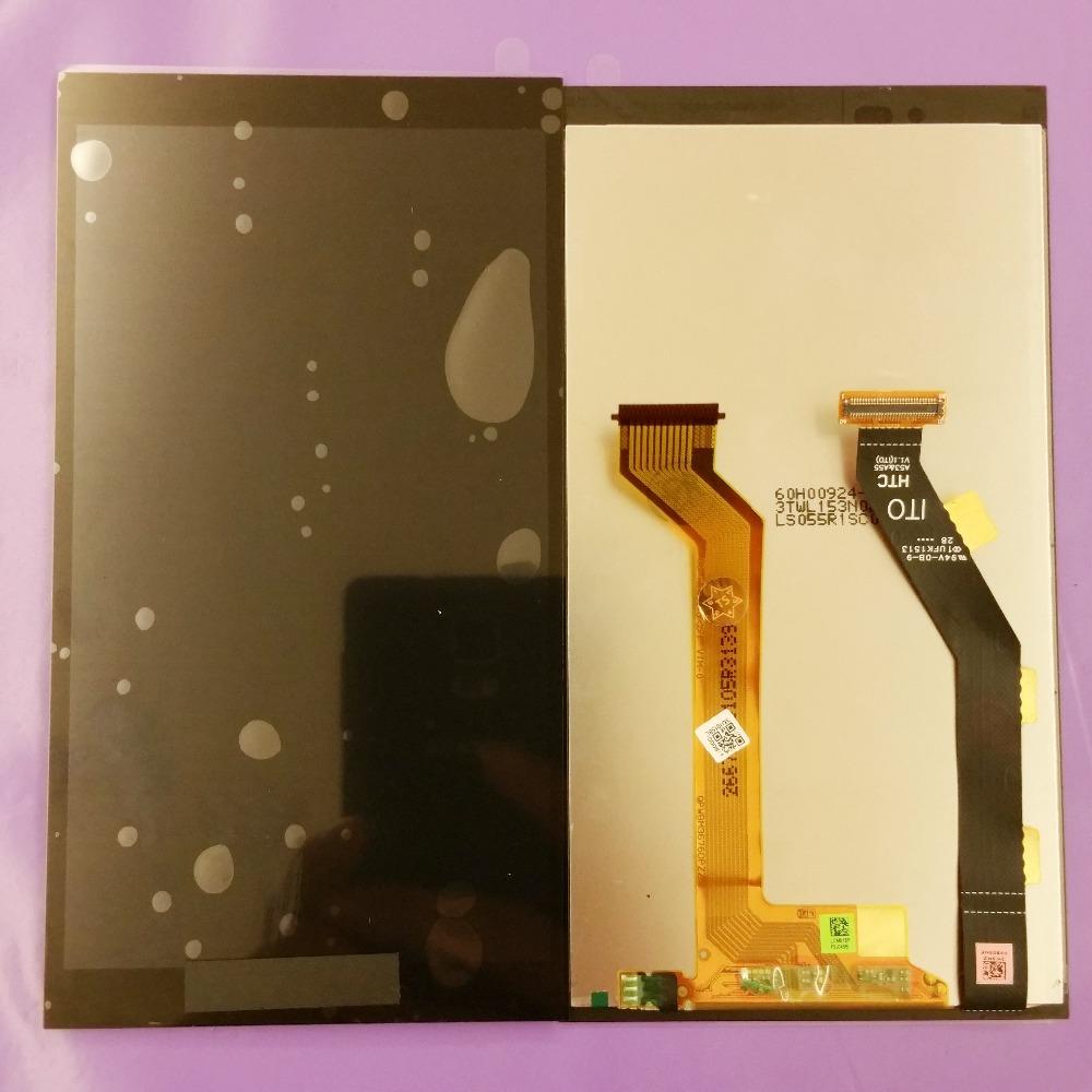 Prix pour Pour htc one e9 +/one e9 plus td-lte e9px e9pt a55 noir plein écran lcd écran tactile digitizer assemblée