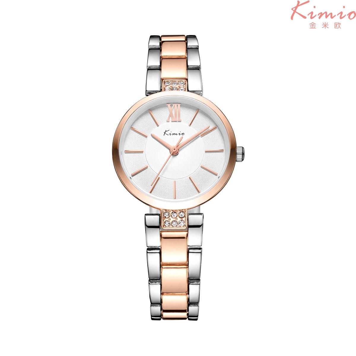 2e43551e82d KIMIO Relógio Fino Simples relogio feminino Rose Gold Quartz Senhoras  vestido Pulseira Relógios de Pulso para meninas das Mulheres KW6133