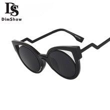 Dimshow Nuevo Diseñador de la Marca de Lujo Clásico Estilo Ojo de Gato gafas de Sol Mujeres Ronda Vintage Gafas de Sol gafas de sol Dazzle Colour