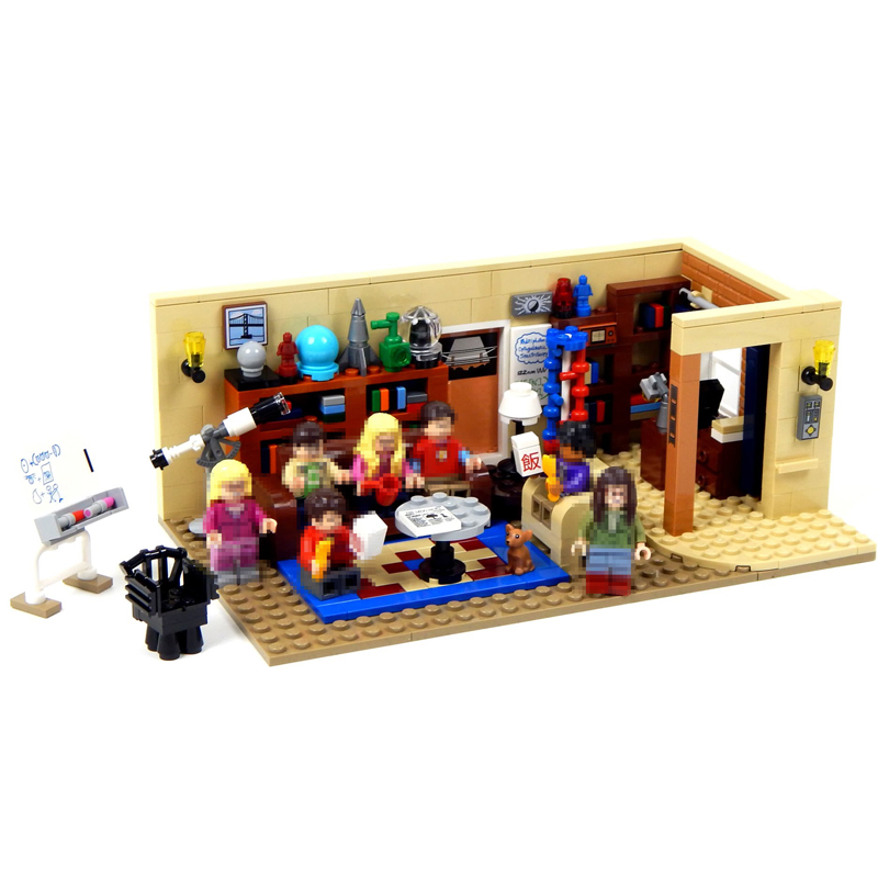Lepin New 16024 Ideas Series The Big Bang Theory Model Building Block Set Compatible 21302 Classic House Living Room Toy for Kid set theory for knowledge representation