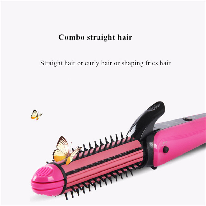 3 In 1 Hair Curling Iron Hair Straightener Multifunction Corrugated Iron Corn Plate Heated Roller Straightening Corrugated Iron in Curling Irons from Home Appliances