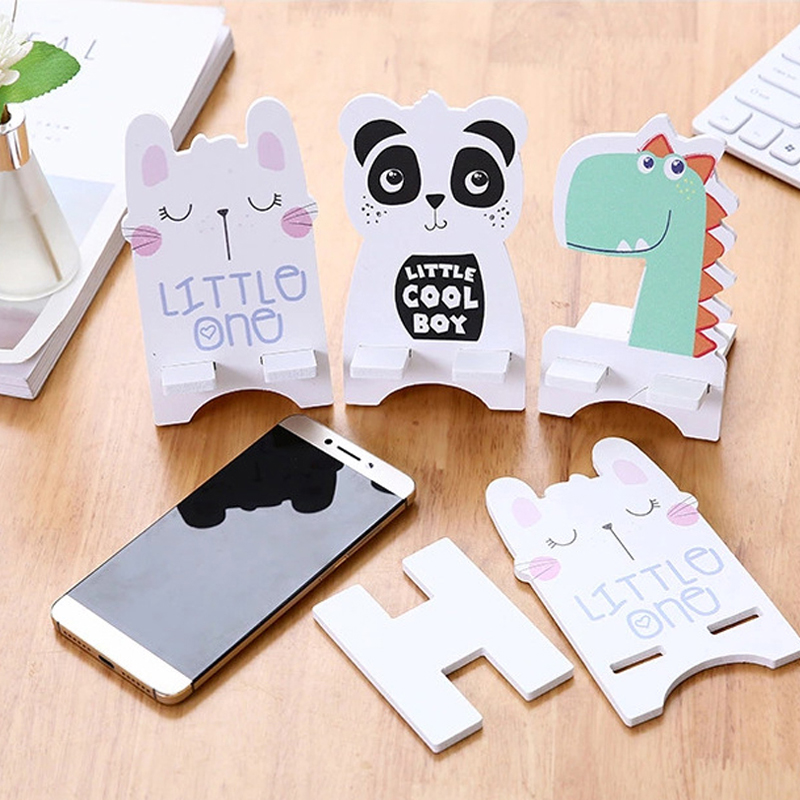 Mobile Phone Accessories Cute Cartoon Panda Animals Design Mobile Phone Holder Wooden Stand For Xiaomi Iphone X 7 6 Samsung Huawei Tablet Desk Bracket Mobile Phone Holders & Stands