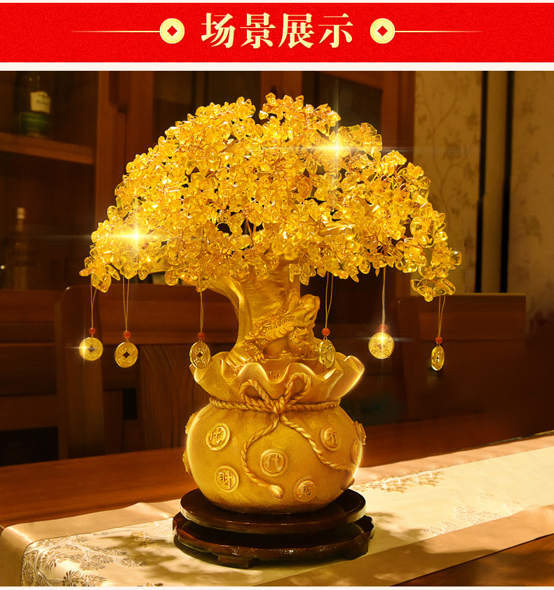 GOOD GIFT Bring in wealth office home shop company Money Drawing efficacious Mascot Gold Pachira money
