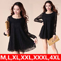 2016 New Lace Dress Women Flower Sexy Summer Woman Casual Dress Plus Size Lady Vestidos Tunic Black,Beige M,L,XL,XXL,3XL,4XL