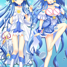 Throw Pillow Cover-Case Dakimakura Hugging Anime Cure Update Aoki Smile-Pretty Beauty