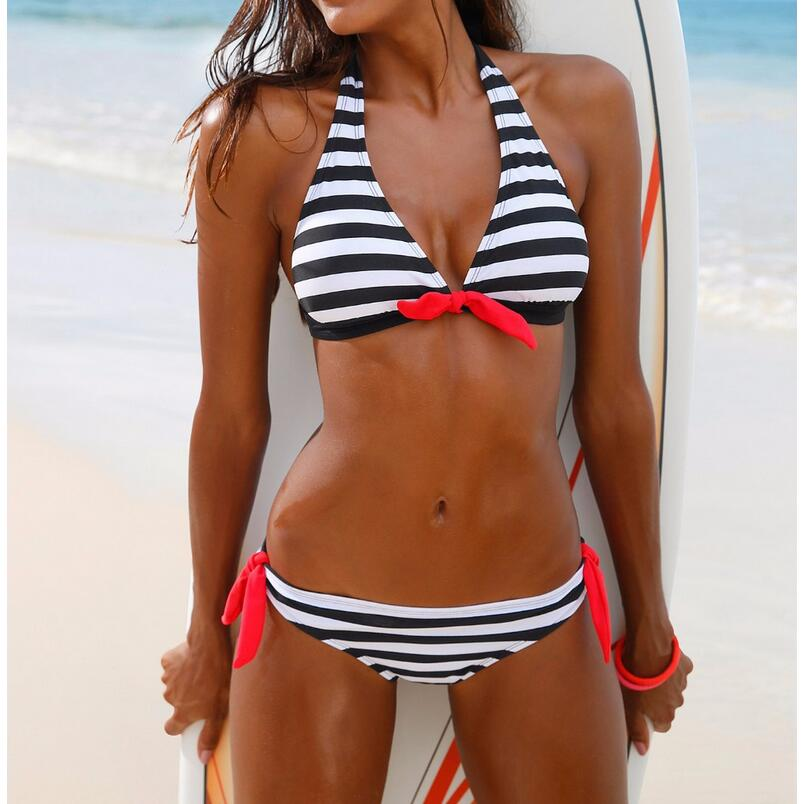 Vacation Bandeau Swimsuit Bikini Beach Sunbathing Vintage
