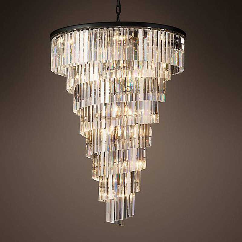 American style retro spiral led crystal chandelier simple luxury for dining room living room round hotel villa project big lamp nordic country style simple retro octagonal crystal lamp living room dining room bedroom chandelier e14 led hanging lamp light