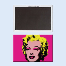 The_painting_of_Andy_Warhol_blonde_woman مغناطيس الثلاجة تذكارية 22221(Hong Kong,China)