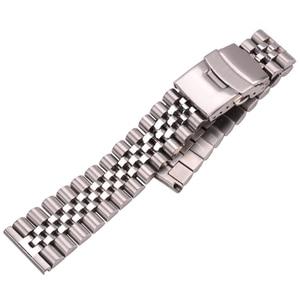 Image 4 - Roestvrij Stalen Horloge Armband Band 20Mm 22Mm 24Mm Vrouwen Mannen Zilver Solid Metal Watch Band Strap Accessoires
