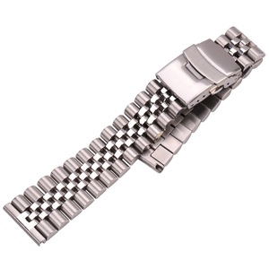 Image 4 - Stainless Steel Watch Bracelet Strap 20mm 22mm 24mm Women Men Silver Solid Metal Watchband Accessories