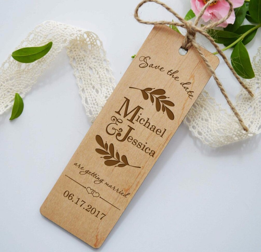 Return Gifts For Wedding Guests: Wood Bookmark Wreath Wooden Bookmarks Wedding Gift For