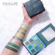 купить FOCALLURE 2019 New Green Eyeshadow palette easy to wear high quality eye shadow powder Shimmer eyeshadow pallete Eyes makeup дешево