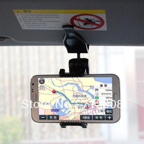 Universal Sun Visor Car Mount Holder For Samsung iPhone Blackberry Free Shipping