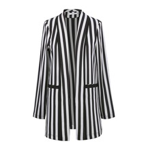 2018 Fashion Brand Women Striped Long Blazer Suit Elegant Long-Sleeve Office Jacket Ladies Autumn Casual Harajuku Blazer Talever