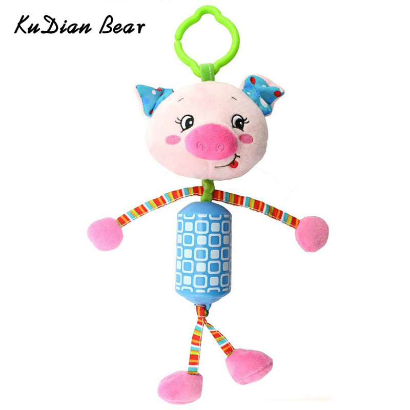 New Novelty Cute Stroller Toy Animals Lathe hanging Kids Mobile Musical Rattles Hang Baby Toys 0-12 Months -- BYC064 PT49