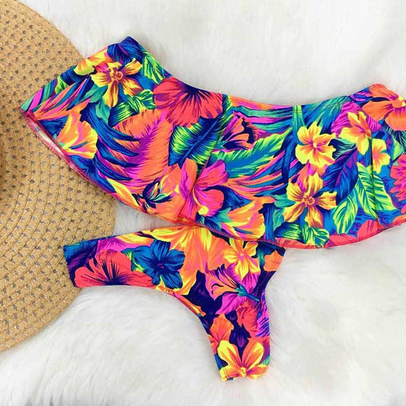 2019 Sexy Bandeau Bikini kobiety strój kąpielowy brazylijski Bikini zestaw strój kąpielowy na plaży strój kąpielowy Push Up stroje kąpielowe gorąca Biquini strój kąpielowy