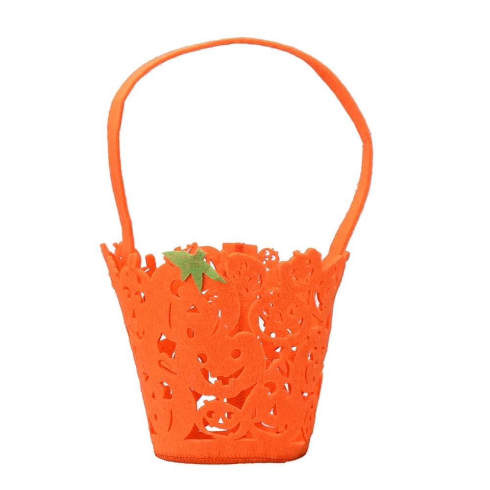 New Arrived Smile Hollow Pumpkin Bag Kids Candy Bag Handbag