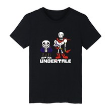 Skulls design White Cotton T-shirt ood looking and Durable Men/Women UNDERTALE Skulls T-shirt with High quality
