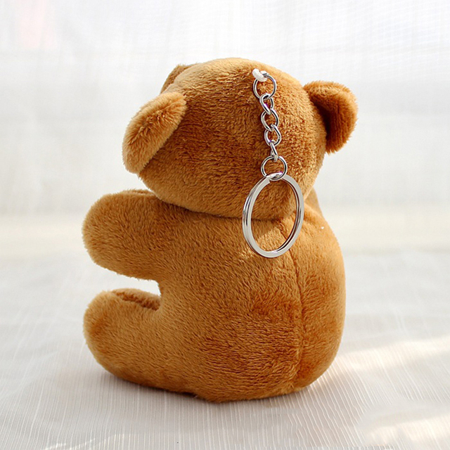 8CM Teddy Bear Cute Plush Toys Bag Keychain Car Key Holder for Pendant Doll Kids Toys Stuffed Animals Fluffy Bear Toy I0109 Uncategorized Decoration Kid's Toys Stuffed & Plush Toys Toys