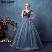 цены Grey Blue Quinceanera Dresses Puffy Tulle Lace Prom Sweet 16 Dresses Ball Gowns Vestidos De 15 Anos Baile