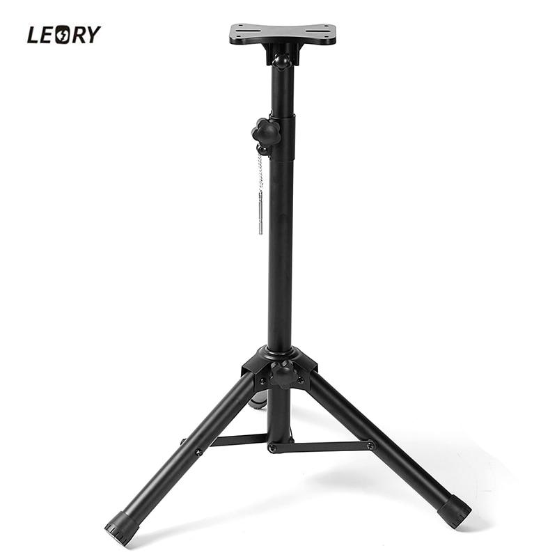 где купить LEORY 80kg Load Bearing Durable Speaker Stand Mounting Bracket Holder Adjustable Loudspeaker Speaker Stand Set по лучшей цене