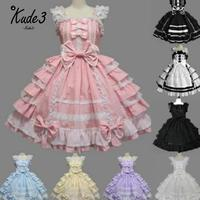 Women Summer Dress Lolita Dress Chiffon Lace Medieval Gothic Dress Princess Cosplay Costumes For Girl Christmas Gift 8446