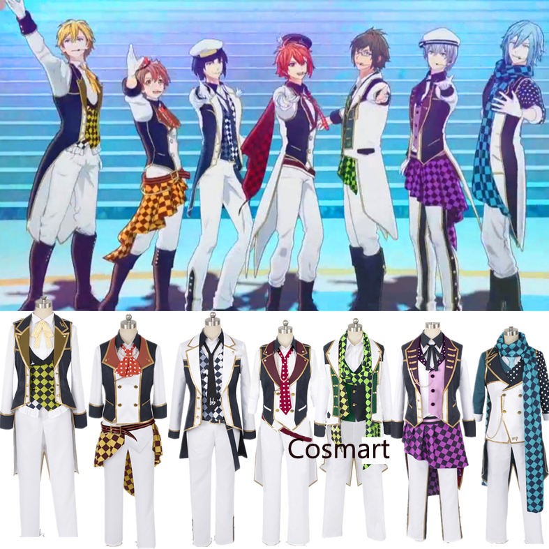 [Customize]Anime Idolish 7 RESTART POINTER all members SJ Uniform Stage Prince Cosplay costumes Halloween Free ship
