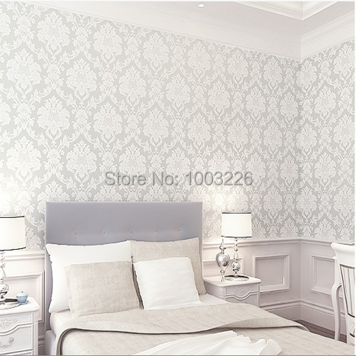 beibehang Background wall wallpaper roll damask embossed wall paper Roll wall paper Home Decor wallpaper for living room Bedroom wholesale classic wall paper wall damask wallpaper golden floral wall covering 3d velvet living room home background decor