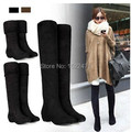 Free Shipping 2016 Autumn And Winter Boots Elastic Knee-Length Long Barreled Boots Women's Shoes
