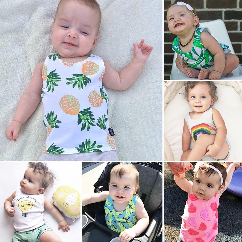 Lato Baby Tank Top Bunny Koszulki bez rękawów Lato Newborn Kids T - Odzież dla niemowląt - Zdjęcie 1