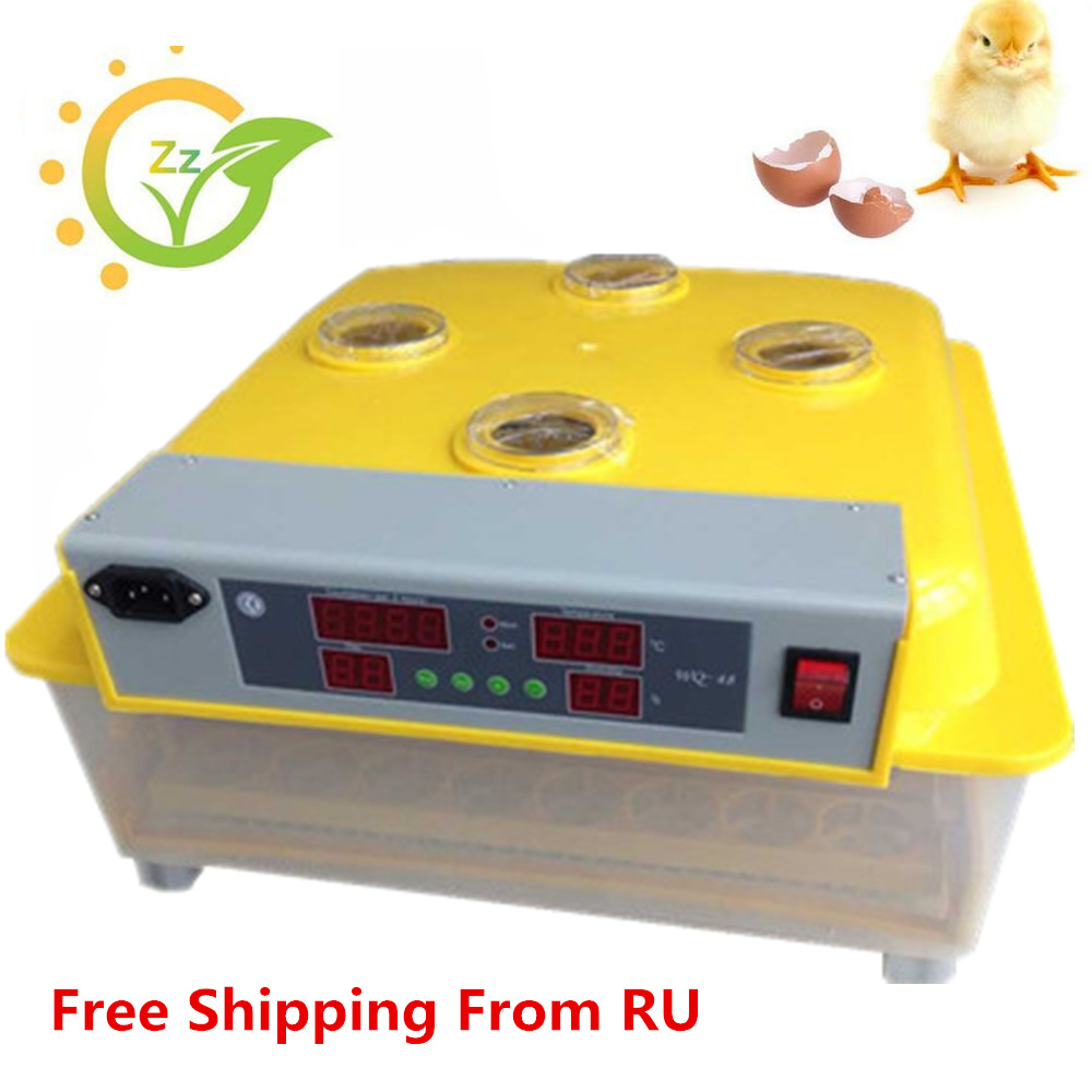 RU Stock Automatic Hatching Machine 48 Egg Digital Commercial Household Poultry Hatcher for Chicken Duck Quail electric egg washing machine chicken duck goose egg washer egg cleaner wash machine poultry farm equipment 2400 pcs h