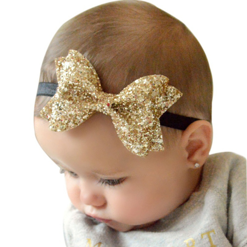 2017 Big Bow Girls Headband Headwrap Lovely Children Solid Cute Hair Accessories Infant Crown Head Band bondi band solid moisture wicking headband