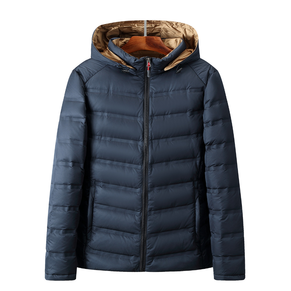 2018 Winter Hooded White Duck   Down   Jackets Men Warm High Quality Warm   Down     Coats   Male Casual Winter Outerwer   Down   Parka Solid