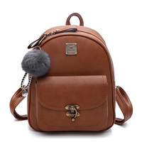 Women Backpacks High Quality PU Leather Shoulder Bag Fashion Cute Backpack School Bags For Teenager Girl