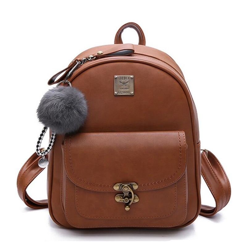 Women Backpacks High Quality PU Leather Shoulder Bag Fashion Cute Backpack School Bags For Teenager Girl Bag Women Bag Mochila fashion women backpack high quality pu leather mochila school bags teenager girls backpacks travel bags wb002