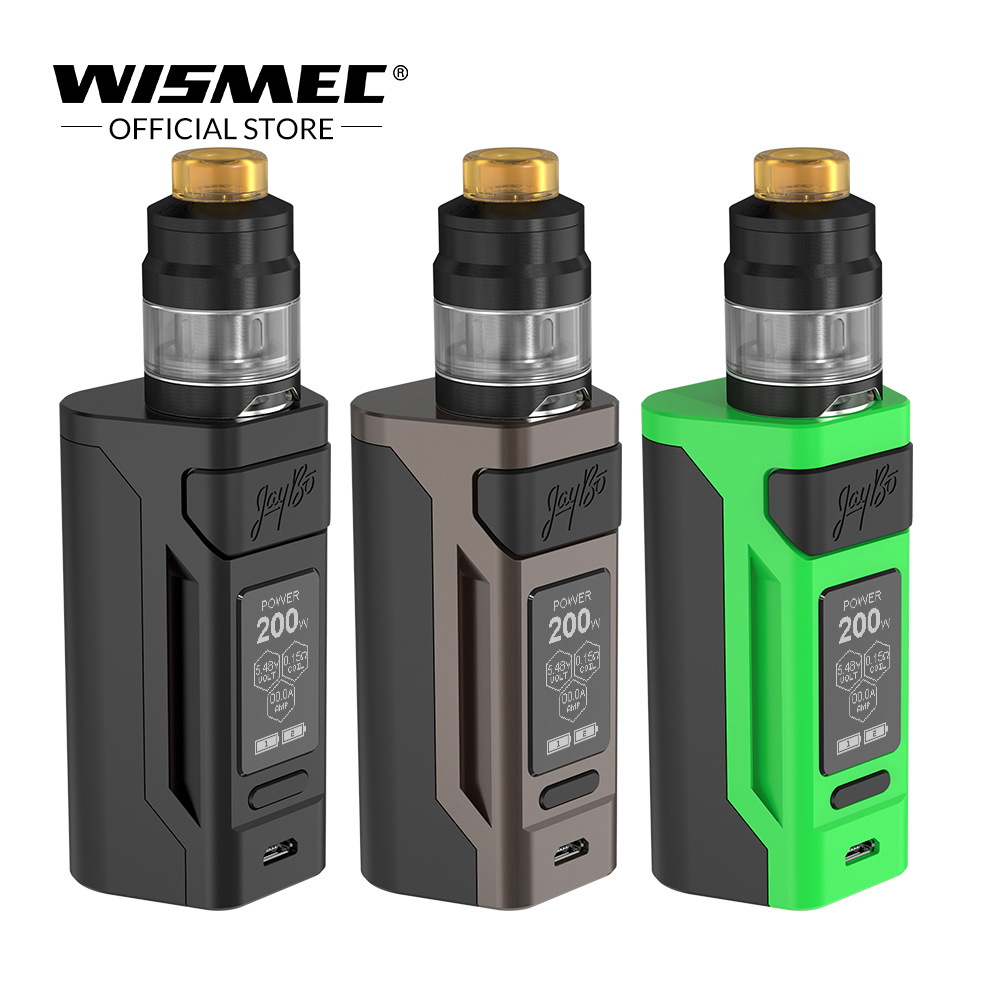 [USA Warehouse]Wismec Reuleaux RX2 20700 With GNOME Kit With The 2ml/ 4ml 200W Output Mod Use 20700/18650 Electronic Cigarette