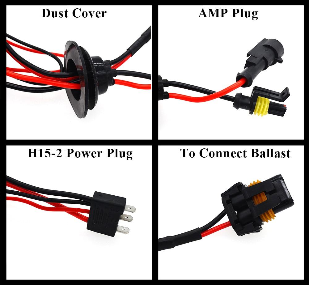 ... Canbus H15 55W H15-2 canbus hid kit 4300K Halogen Lamp Car Light  SourceCar Daytime ...