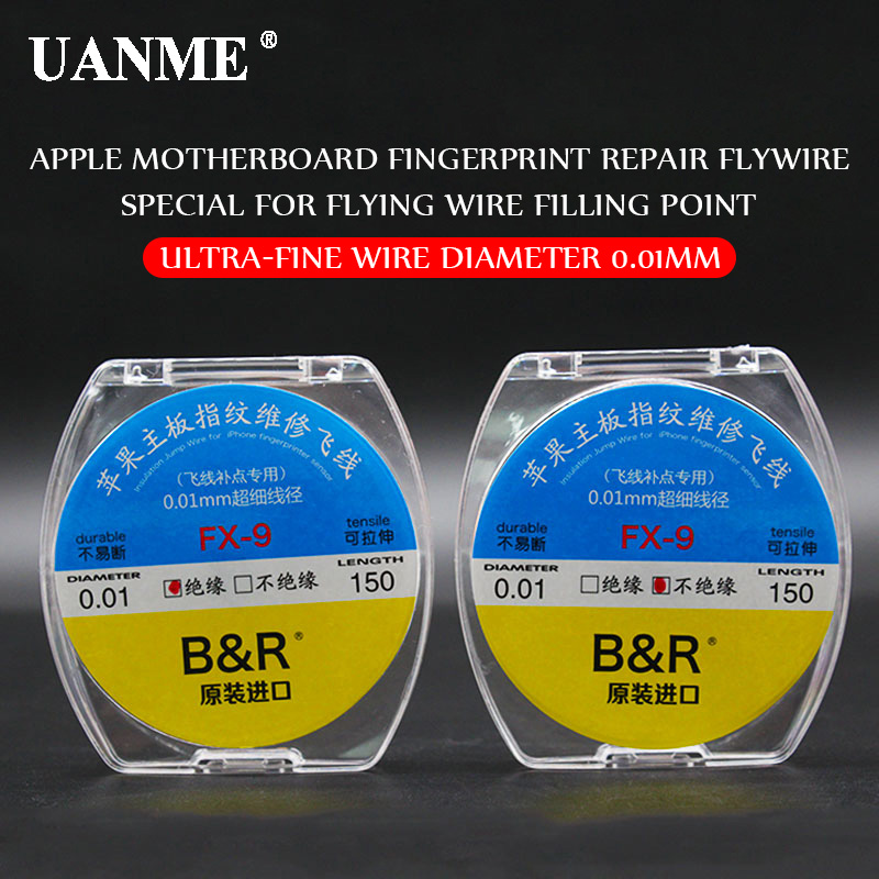 UANME B&R 0.01mm 150m Insulation/uninsulation Copper Line Soldering Solder For IPhone Chip Conductor Wire