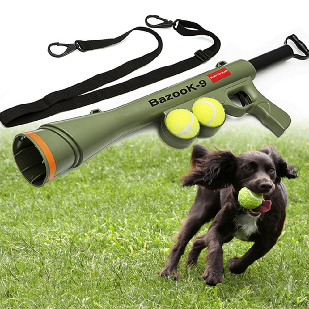Large Dog Toys Balls : Pet ball launcher toy outdoor training dog toys