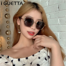 iGUETTA Square Sunglasses Women Polarized UV400 High Quality Luxury Sunglass Brand Designer Metal Glasses Frame IYJB588