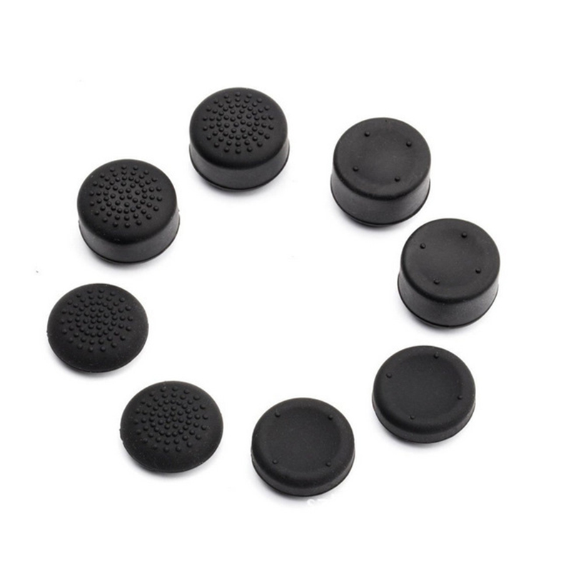 Rubber Silicone Cap For PlayStation 4 PS4 Controller Thumbstick Thumb Stick Pretect Cover Case Skin Joystick Grip Shell 8pcs/set